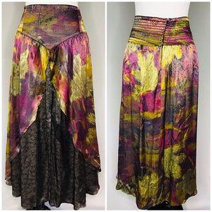 Platinum Dorothy Schoelen Vintage Midi Gypsy Skirt